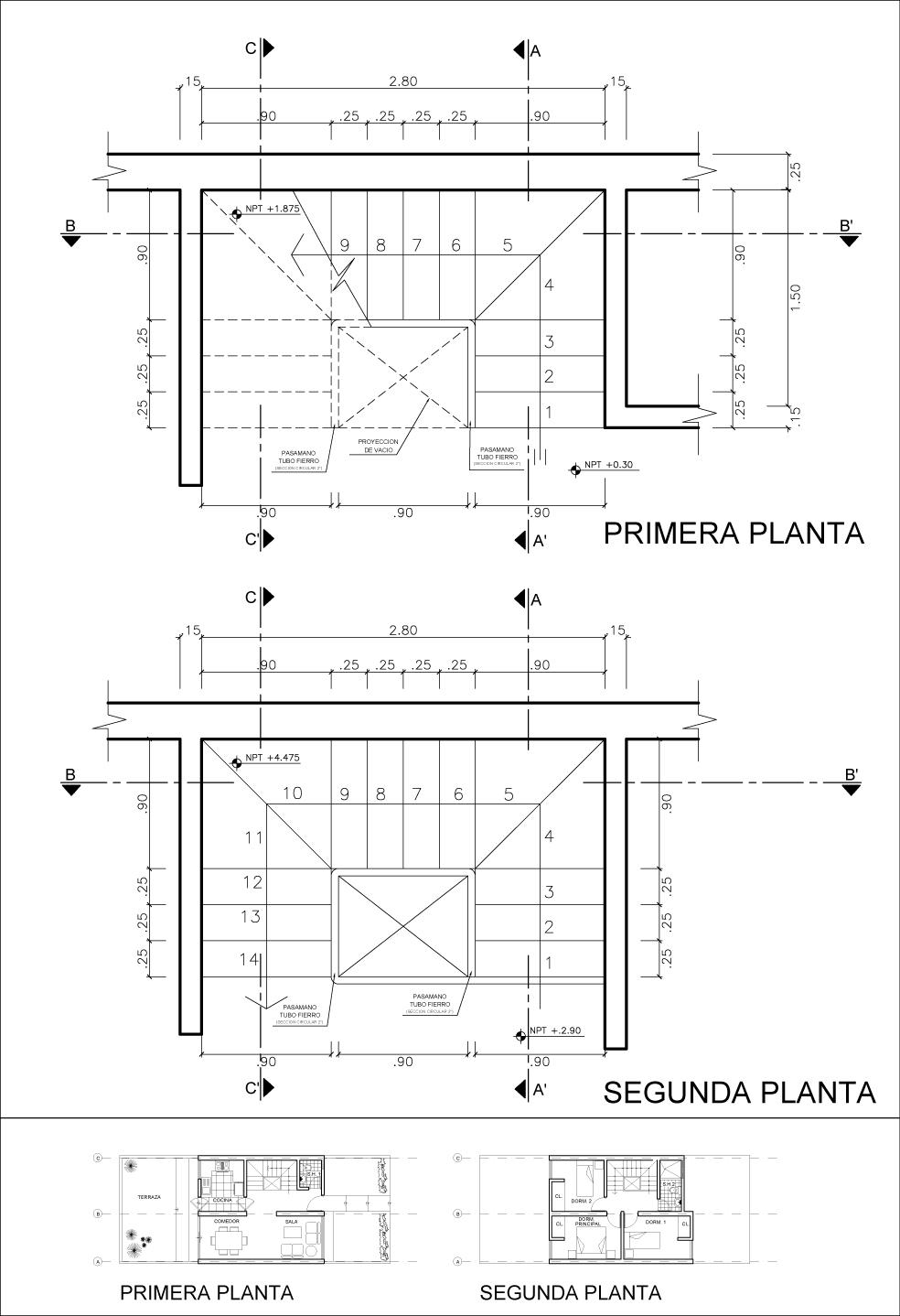 Detalle constructivo de una escalera eduardo iberico for Escaleras en planta