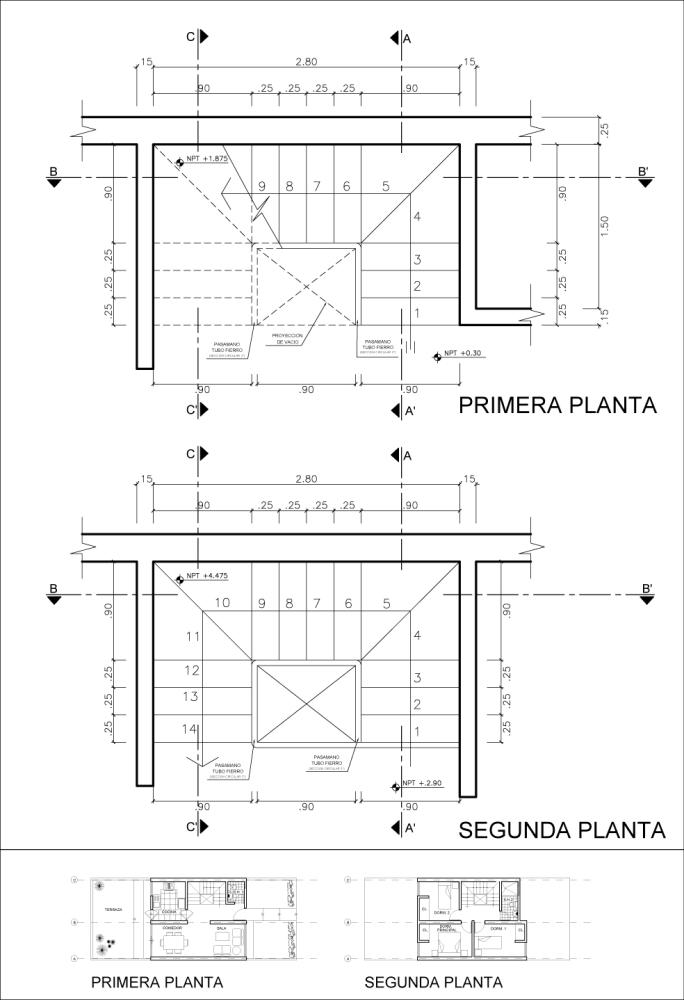 Detalle Constructivo de una Escalera (1/5)