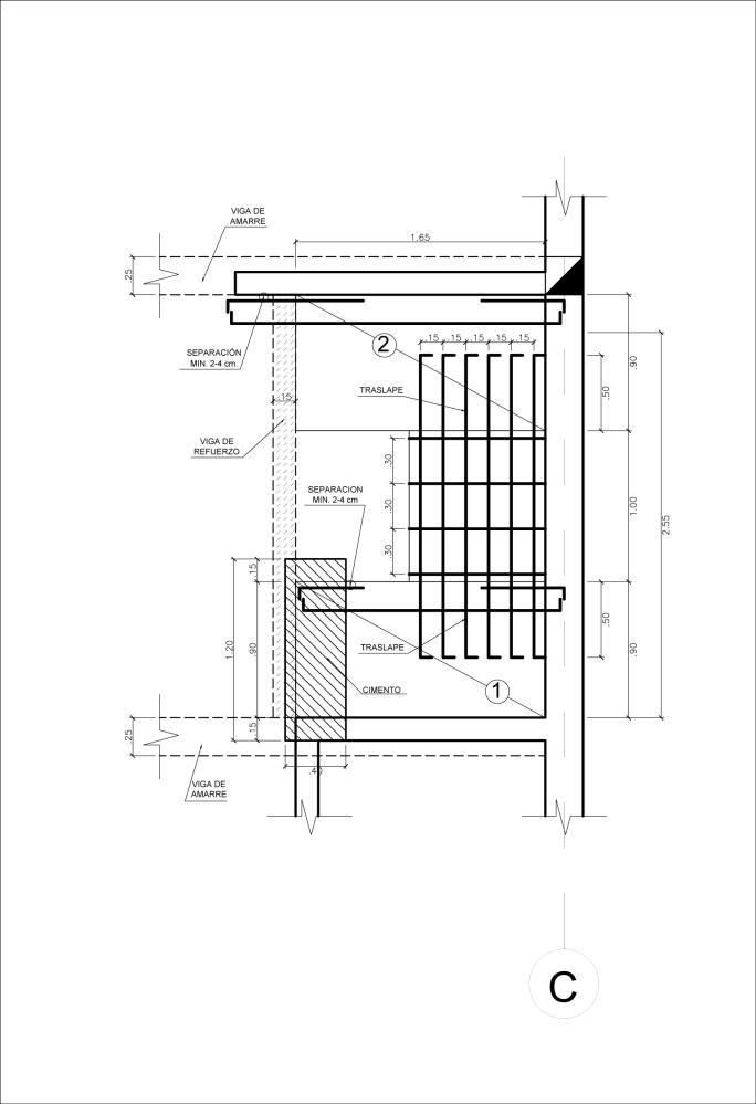 Detalle Constructivo de una Escalera (2/5)