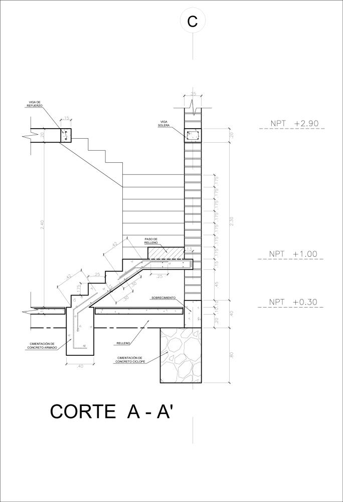 Detalle Constructivo de una Escalera (3/5)