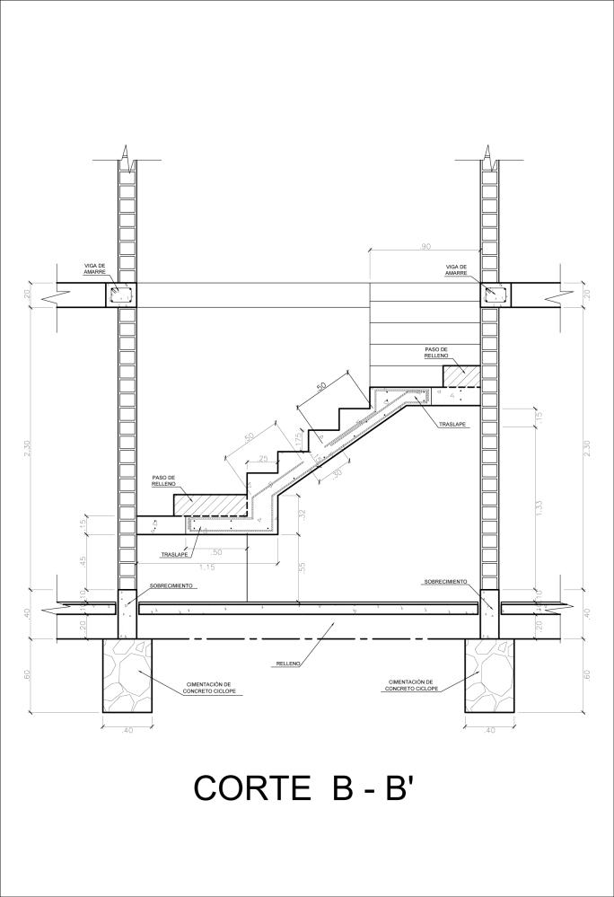 Detalle Constructivo de una Escalera (4/5)