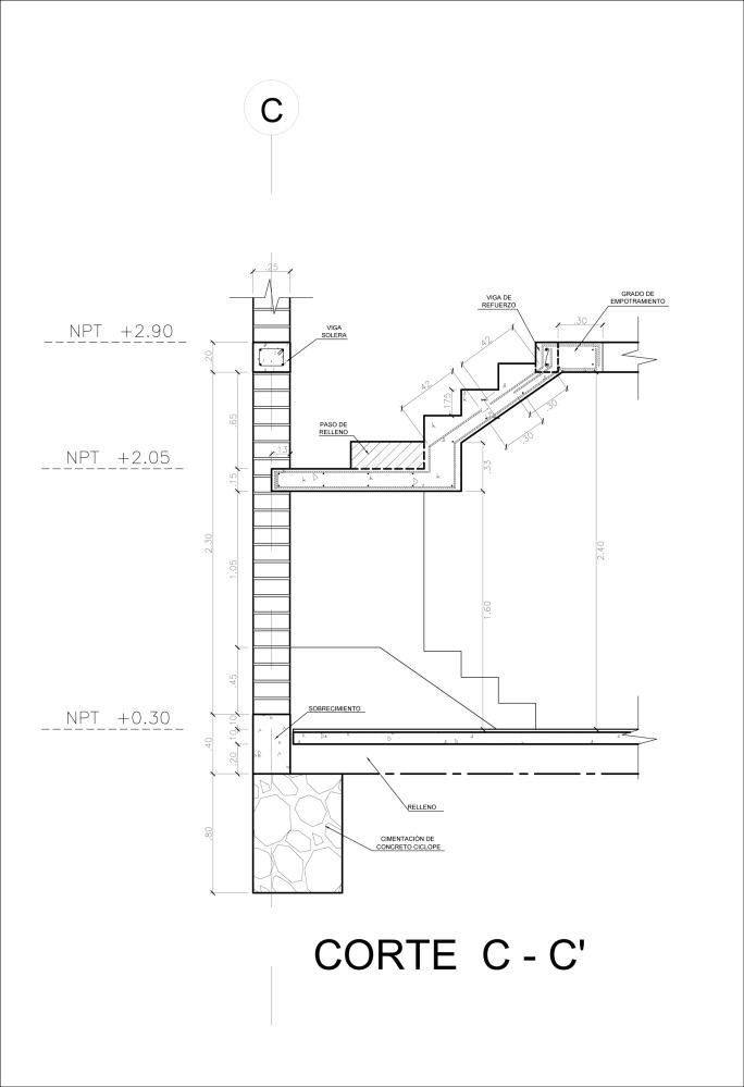 Detalle Constructivo de una Escalera (5/5)