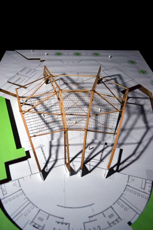 Dise o de estructura para un auditorio eduardo iberico for Estructura arquitectura
