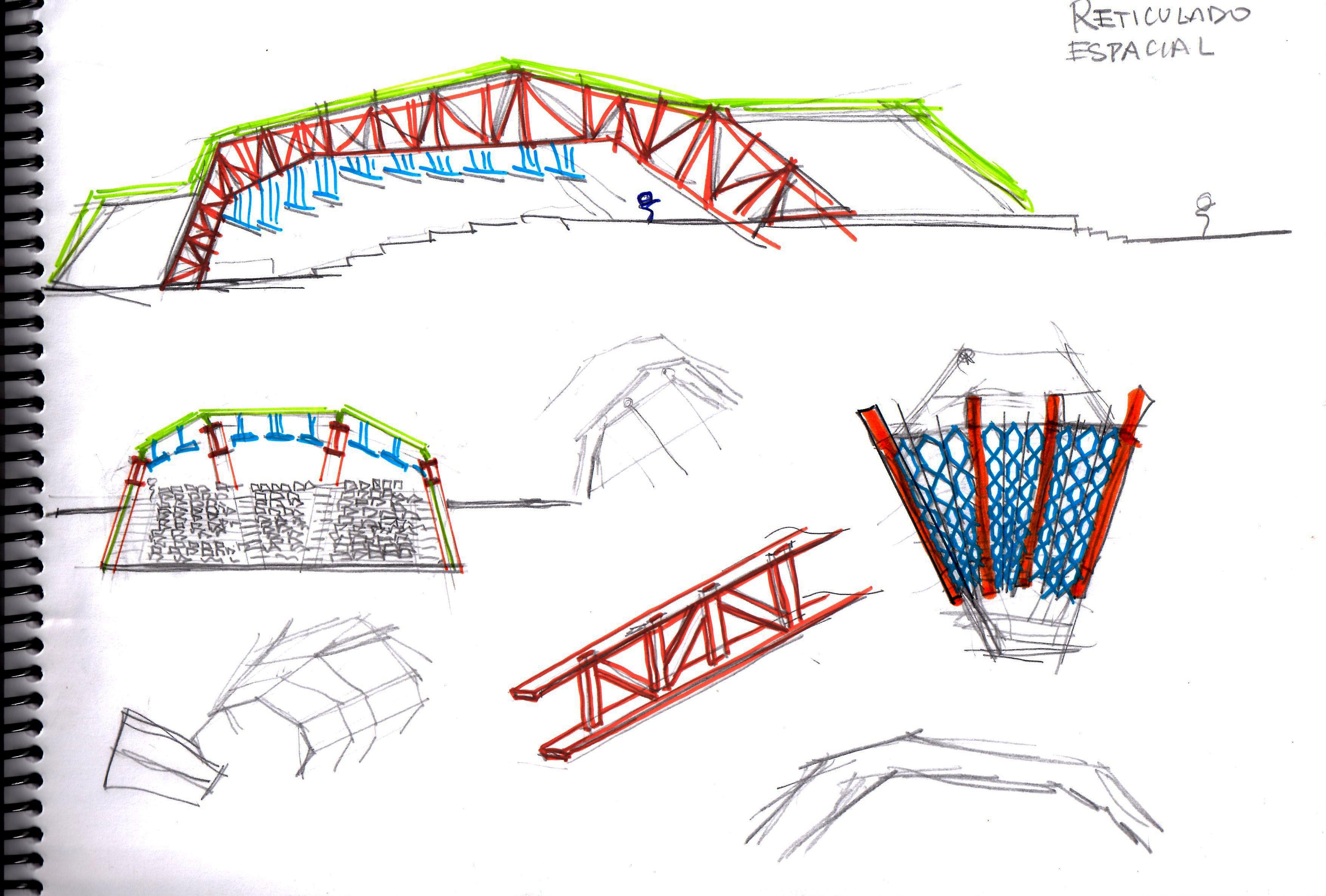 Dise o de estructura para un auditorio eduardo iberico for Estructuras para viveros plantas