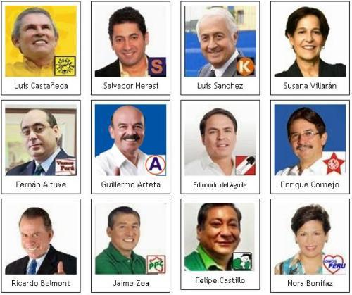 Imagen: Candidatos al Municipio de Lima Metropolitana.