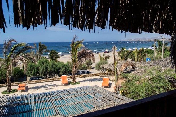 Imagen: Vista de mi habitación a la playa Punta Veleros.