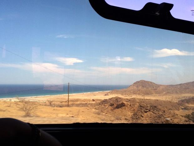 Imagen: Vista desde el ómnibus camino a Órganos.